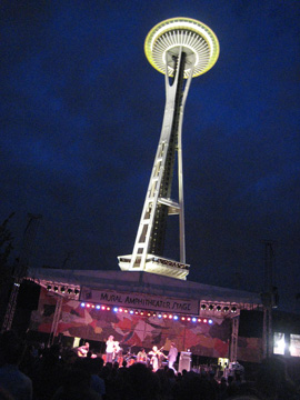The Needle and music stage