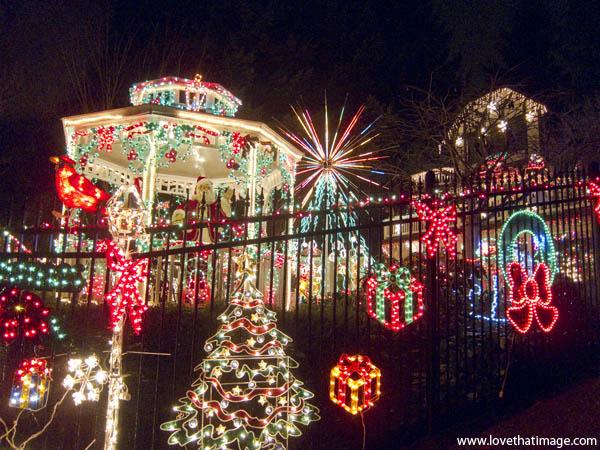 holiday lights, christmas lights, night, christmas eve, night, display of lights
