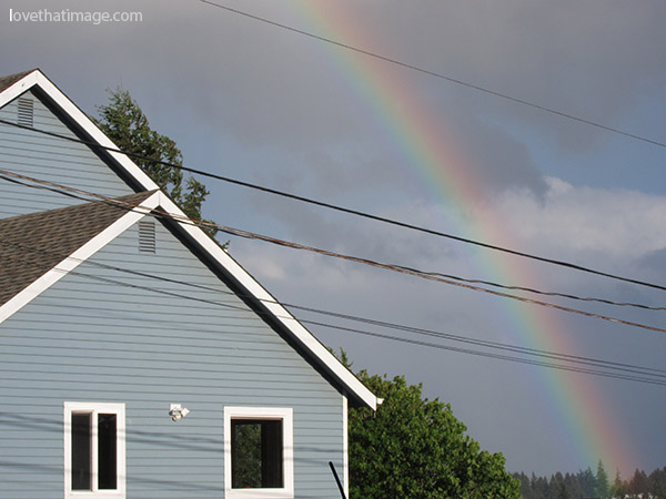 A spring rainbow in Burien, Washington