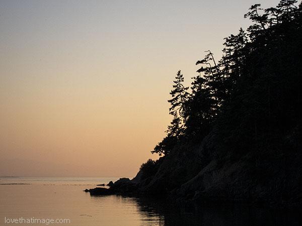 Dusk at Bowman Bay, Washington