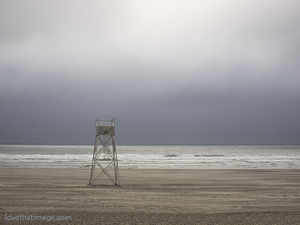 Lifeguard station in Seaside, Oregon