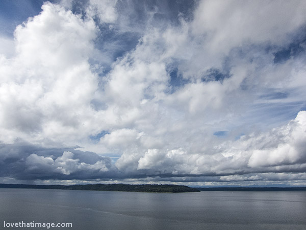 Dramatic clouds over Puget Sound in Washington