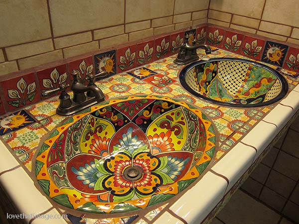 Colorful Sinks Sara 39 S Fave Photo. Mexican Style Bathroom Sinks   Best Bathroom 2017