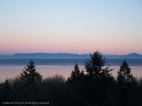 Sunset view from Camano Island, WA
