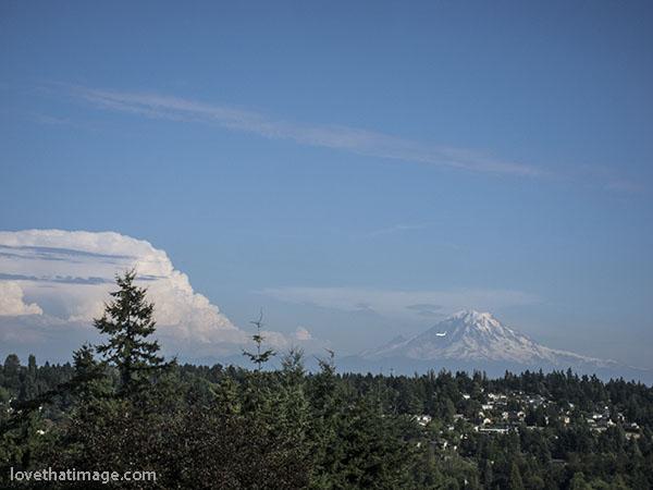 Giant cloud near Mt. Rainier in eastern Washington