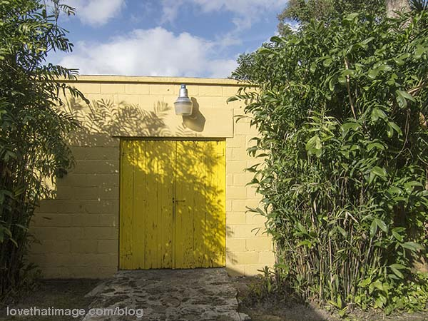Two shades of yellow adorn this building in Florida
