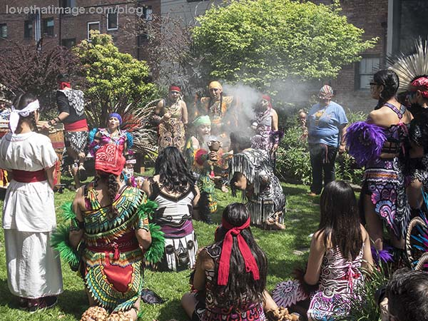 Chanting and smudging in this Native American event in Seattle on May Day