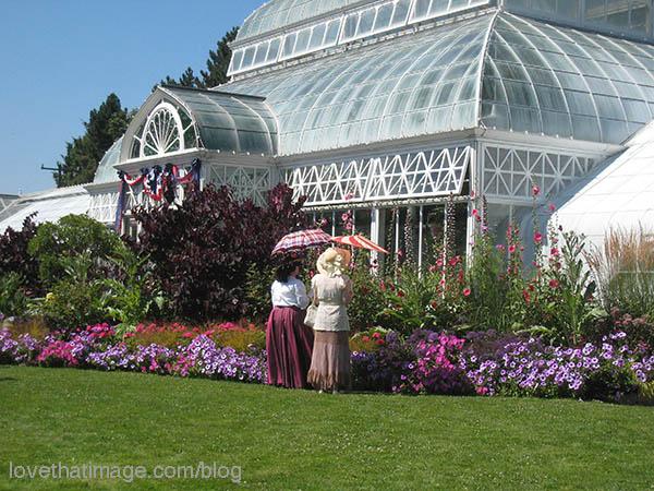 Seattle's Volunteer Park Conservatory in summertime
