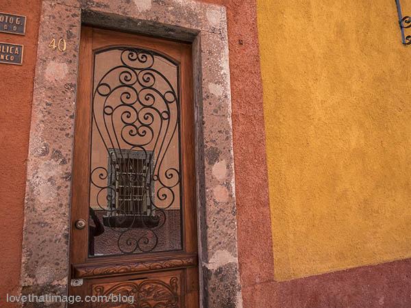 Wrought Iron and earth colors adorn San Miguel de Allende
